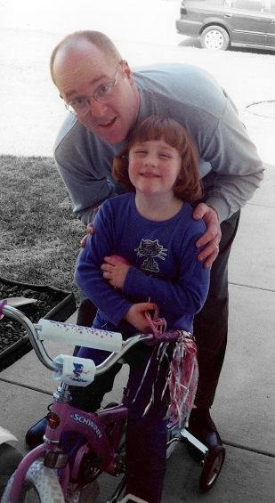 Yours truly with daughter Samantha, circa 2001.