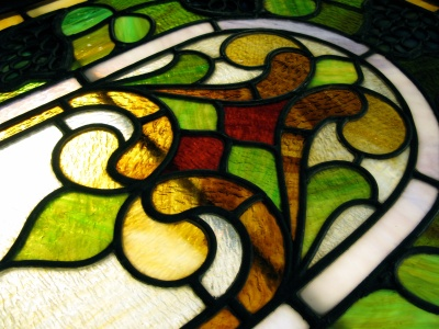 The beautiful windows were for decades a part of the chapel at St. Mary's Hospital in Madison.