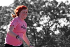 My daughter Samantha racing around the bases during a softball game.