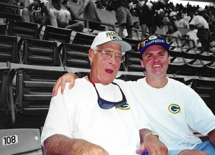 My late father (left) and brother David at some sporting event, circa 1998.
