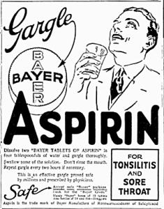 Bayer Aspirin 1926